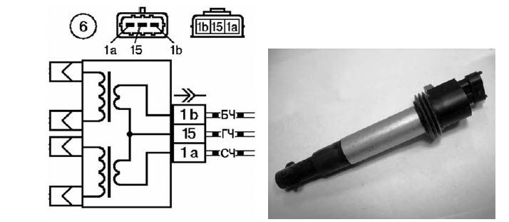 Фото №13 - схема подключения катушки зажигания ВАЗ 2110 инжектор